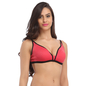 Dark Pink Cotton Non-Padded Non-Wired Everyday Bra With Demi Cups