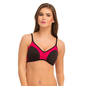 Cotton Non-Padded Wirefree T-shirt Bra With Double Layers - Black
