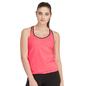 Fluorescent Orange Active Wear Top With Inbuilt Bra