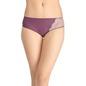 Glossy Mid-Waist Bikini With Lace Work - Purple