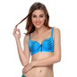 Graphic Prints Padded Bra In Light Blue