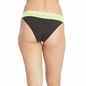 Florescent Green Cotton Spandex Bikini With Contrast Lace At Waist  _4