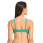 Green Cotton Non-Padded Non-Wired Bra With U Back