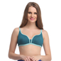 Green Cotton Non-Padded Non-Wired Everyday Bra With Demi Cups
