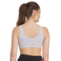 Grey Cotton Spandex Sports Bra With Breathable Cups