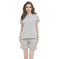 Grey Cotton T-shirt & Shorts