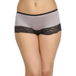 High Waist Hipster With Lace At Front - Grey