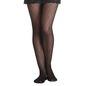 Jacquard Check Print Pantyhose - Black