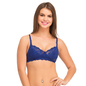 Lace Non-Padded Wirefree Full Cup Bridal Bra - Blue