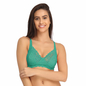 Lace Non-Padded Wirefree Full Cup Bridal Bra - Green