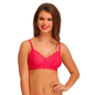 Lace Non-Padded Wirefree Full Cup Bridal Bra - Hot Pink