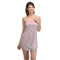 Lace & Polyamide Babydoll In Grey