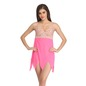Lacy Cup Zig Zag Hem BabyDoll With Matching Thong - Pink