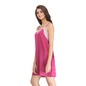 Lacy Neck Satin Nightie & Printed Robe Set - Purple