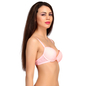 Push Up Plunge Bra In Peach With Detachable Straps_3