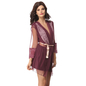 Lacy Polyamide Nightdress With Mesh Robe