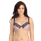 Plus Size Plunge Bra In Light Pink With Padded Demi Cups