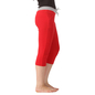 Cotton Yoga Capri - Red