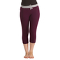 Cotton Yoga Capri - Wine