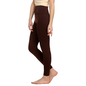 Cotton Spandex Leggings In Dark Brown_2