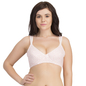 Padded Cotton Spandex Baby Pink Nursing Bra With Removable Flaps