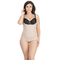 Body Shaper In Skin With Detachable Straps & Hidden Zip