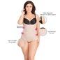 Body Shaper In Skin With Detachable Straps & Hidden Zip
