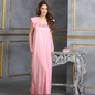 Long Satin Nighty in Baby Pink