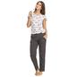 Cotton Printed Top & Pyjama - White