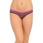Printed Mid Waist Bikini With Contrast Lace - Pink