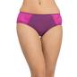 Mid Waist Bikini With Lace Side Wings - Purple