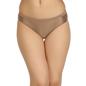 Mid Waist Bikini With Broad Elastic Waist Band - Brown