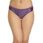 Mid Waist Bikini With Broad Elastic Waist Band - Purple
