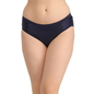 Mid Waist Bikini With Broad Waist Band - Blue