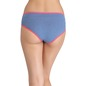Mid-Waist Bikini with Contrast Elastic Band - Blue