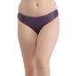 Mid Waist Bikini With Contrast Lace - Purple