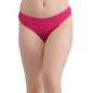 Mid Waist Bikini With Contrast Lacy Leg - Pink
