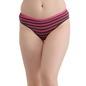 Mid-Waist Striped Bikini With Trimmed Elastic - Pink