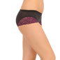 Mid Waist Hipster With Lace Wings - Purple