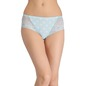 Mid-Waist Hipster with Trimmed Elastic & Lacy Side Wings - Green