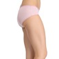 Mid-Waist Striped Hipster With Trimmed Elastic - Pink