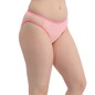 Mid-Waist  Bikini with Powernet Side Wings - Pink