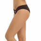 Mid Waisted Bikini With V-Shaped Waist Band - Brown