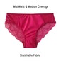 Mid Waisted Lacy Bikini - Pink