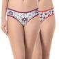 Set of 2 Multi-coloured Mid Waist Bikinis
