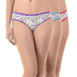 Set of 3 Multi-coloured Cotton High Waist Bikinis
