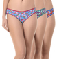Set of 3 Multi-coloured High Waist Bikinis