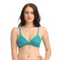 Non-Padded Demi Cup Bra In Green