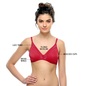 Non-padded Demi Cup T-shirt Bra With Lace In Hot Pink
