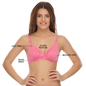 Non-padded Demi Cup T-shirt Bra With Lace In Pink